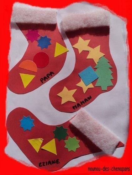 Les chaussettes de noel centerblog - Bricolage chaussette de noel ...