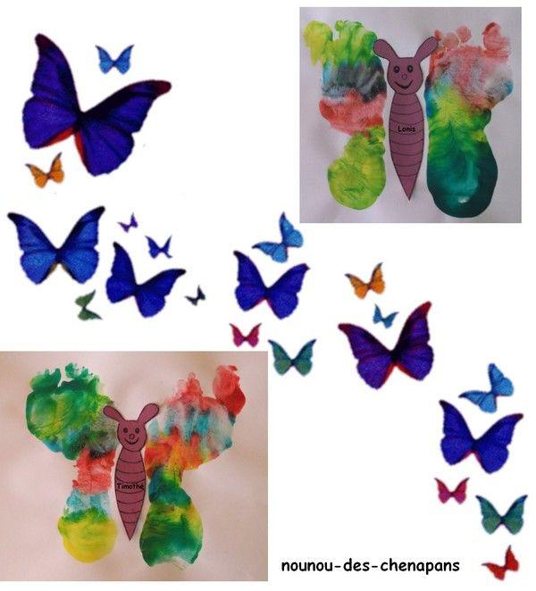 Peinture mains pieds animaux - Table a repasser avec les mains ...